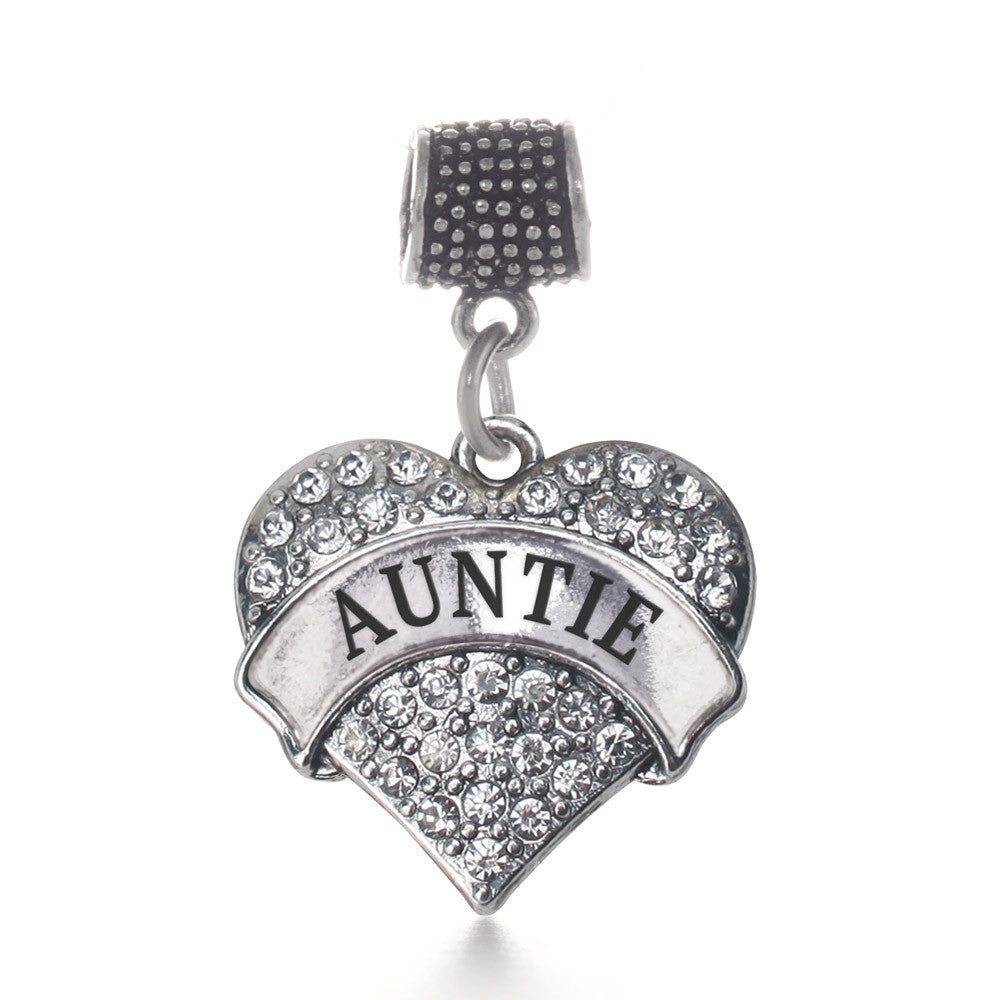 Auntie Pave Heart Charm