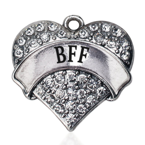 BFF Pave Heart Charm