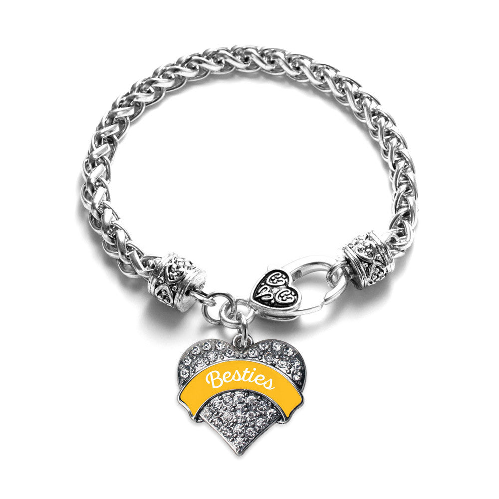 Marigold Besties Pave Heart Charm