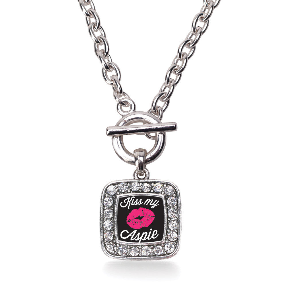 Kiss My Aspie  Square Charm