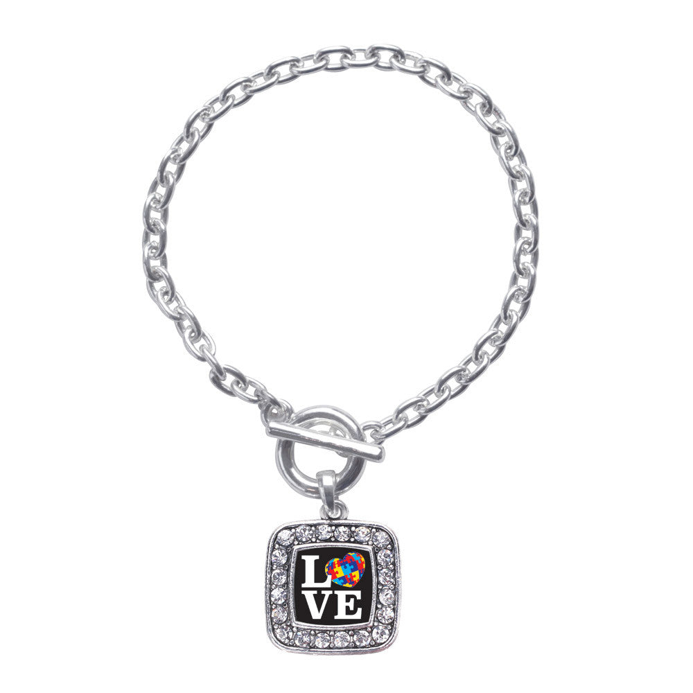 Love Autism Awareness Square Charm