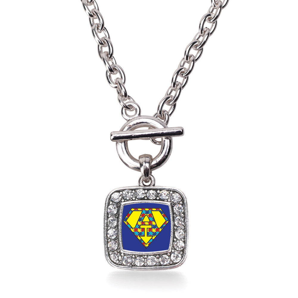 Super Autism Awareness  Square Charm