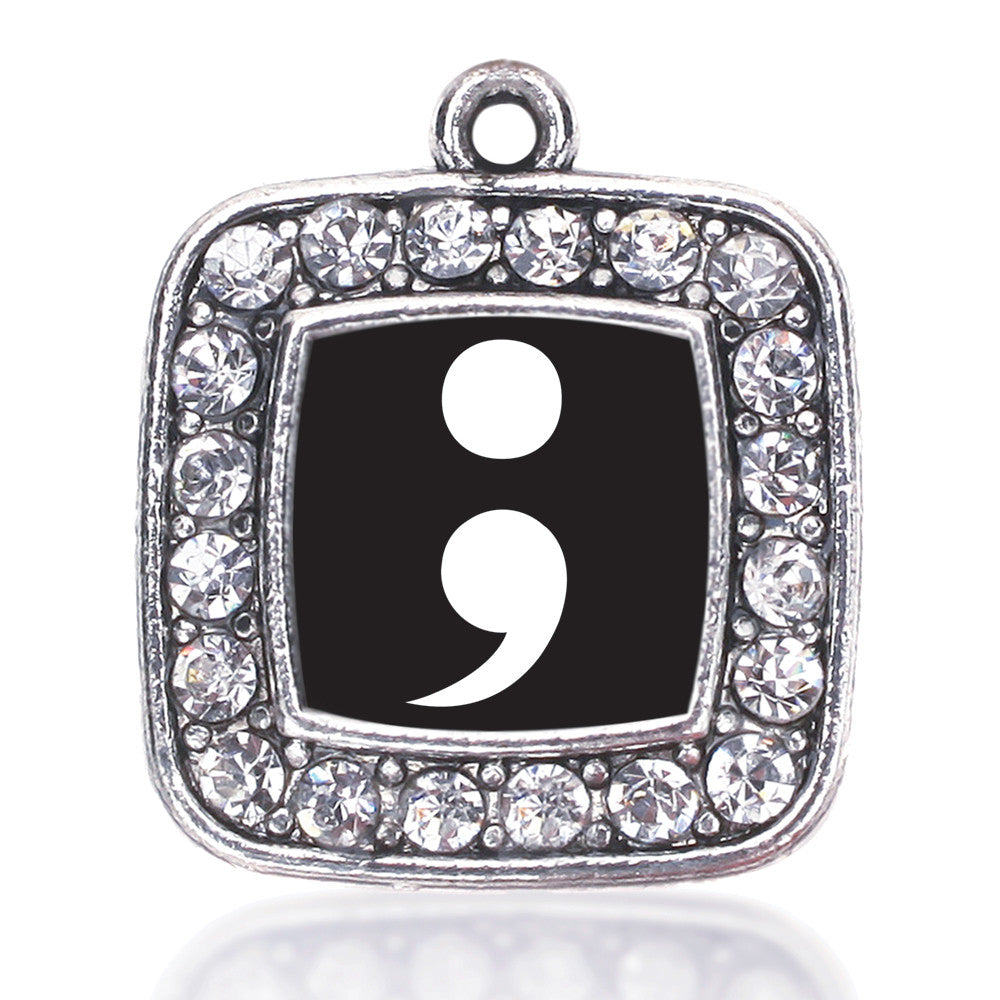 Semicolon Movement Square Charm