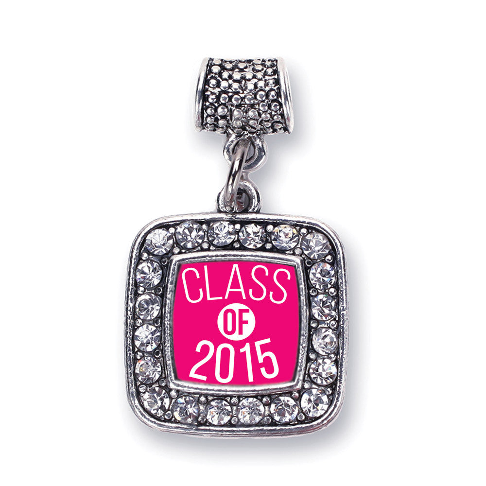 Hot Pink Class of 2015 Square Charm