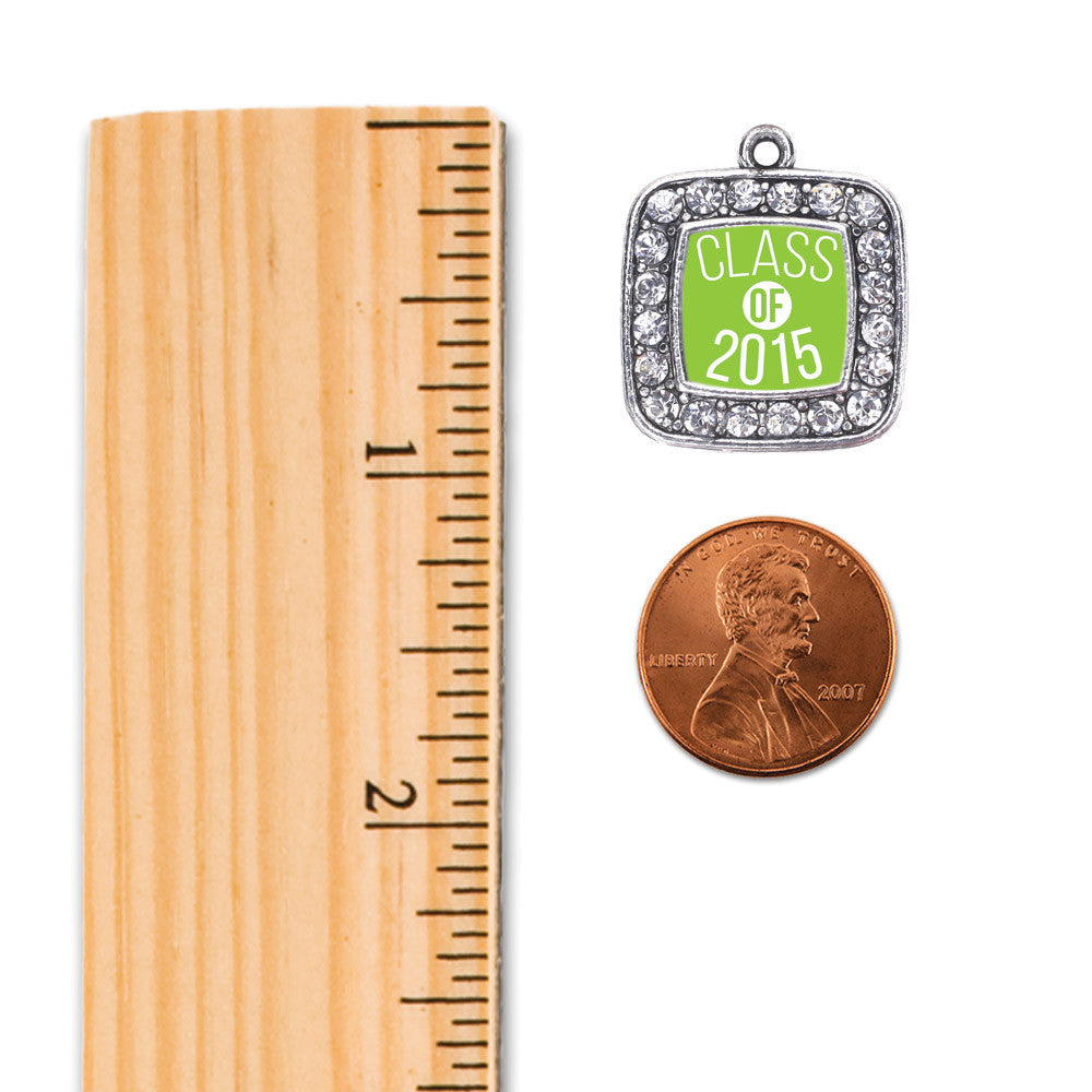 Lime Green Class of 2015 Square Charm