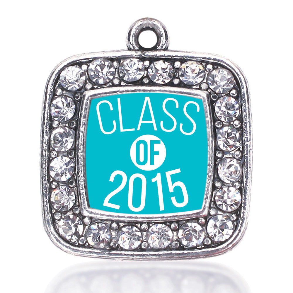Teal Class of 2015 Square Charm