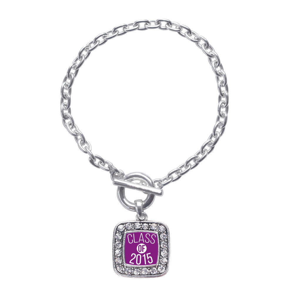 Purple Class of 2015 Square Charm