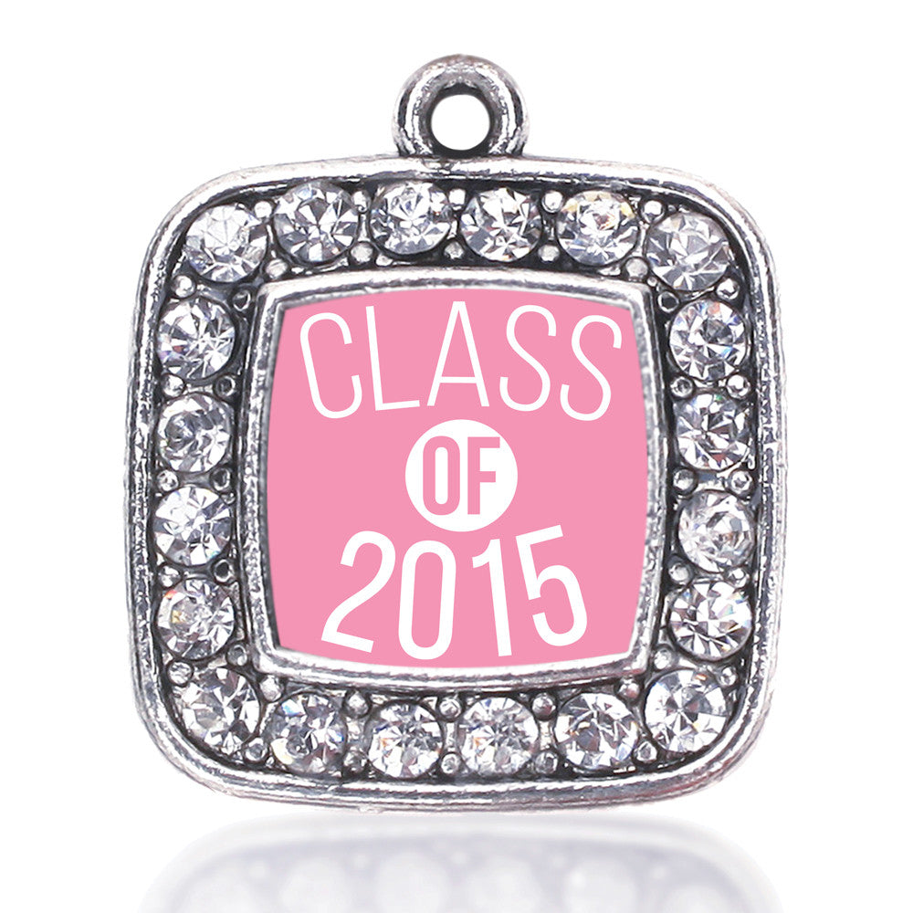Light Pink Class of 2015 Square Charm