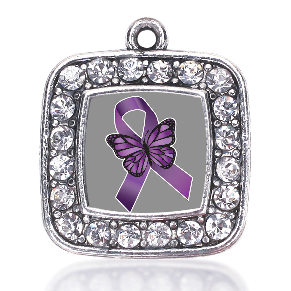 Fibromyalgia Awareness Square Charm
