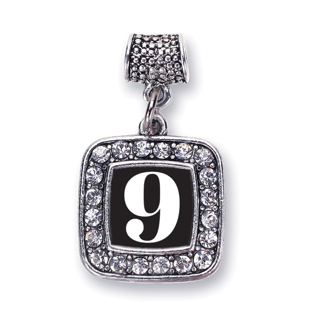 Number 9 Square Charm