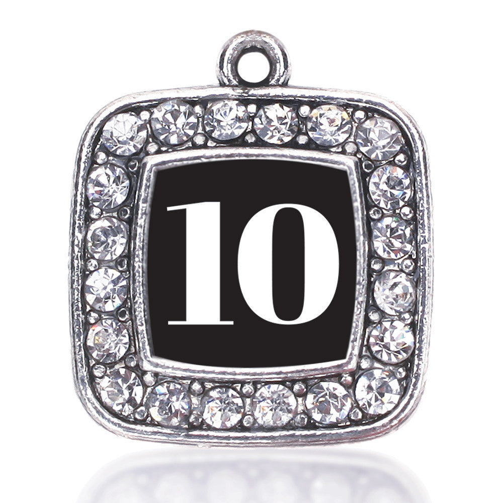 Number 10 Square Charm