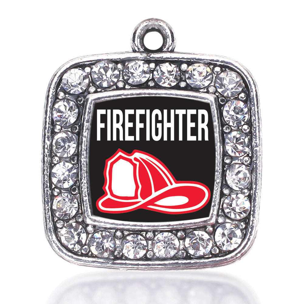 Firefighter Square Charm