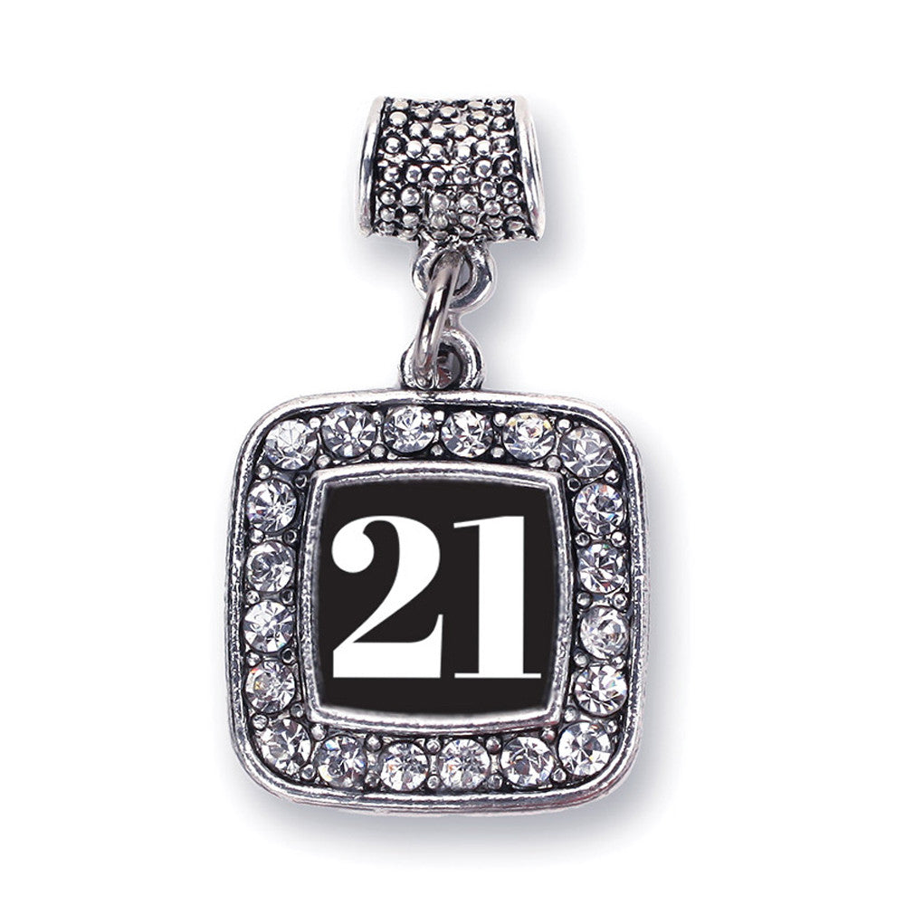 Number 21 Square Charm