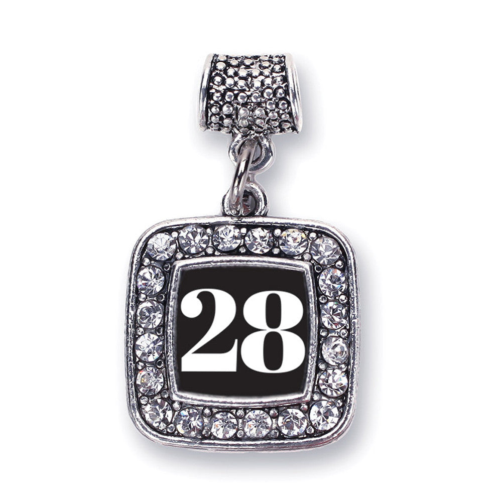 Number 28 Square Charm