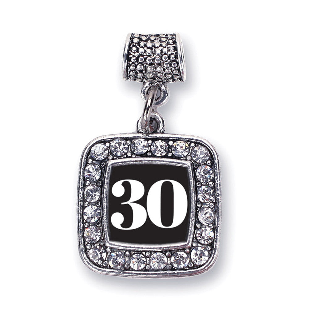 Number 30 Square Charm