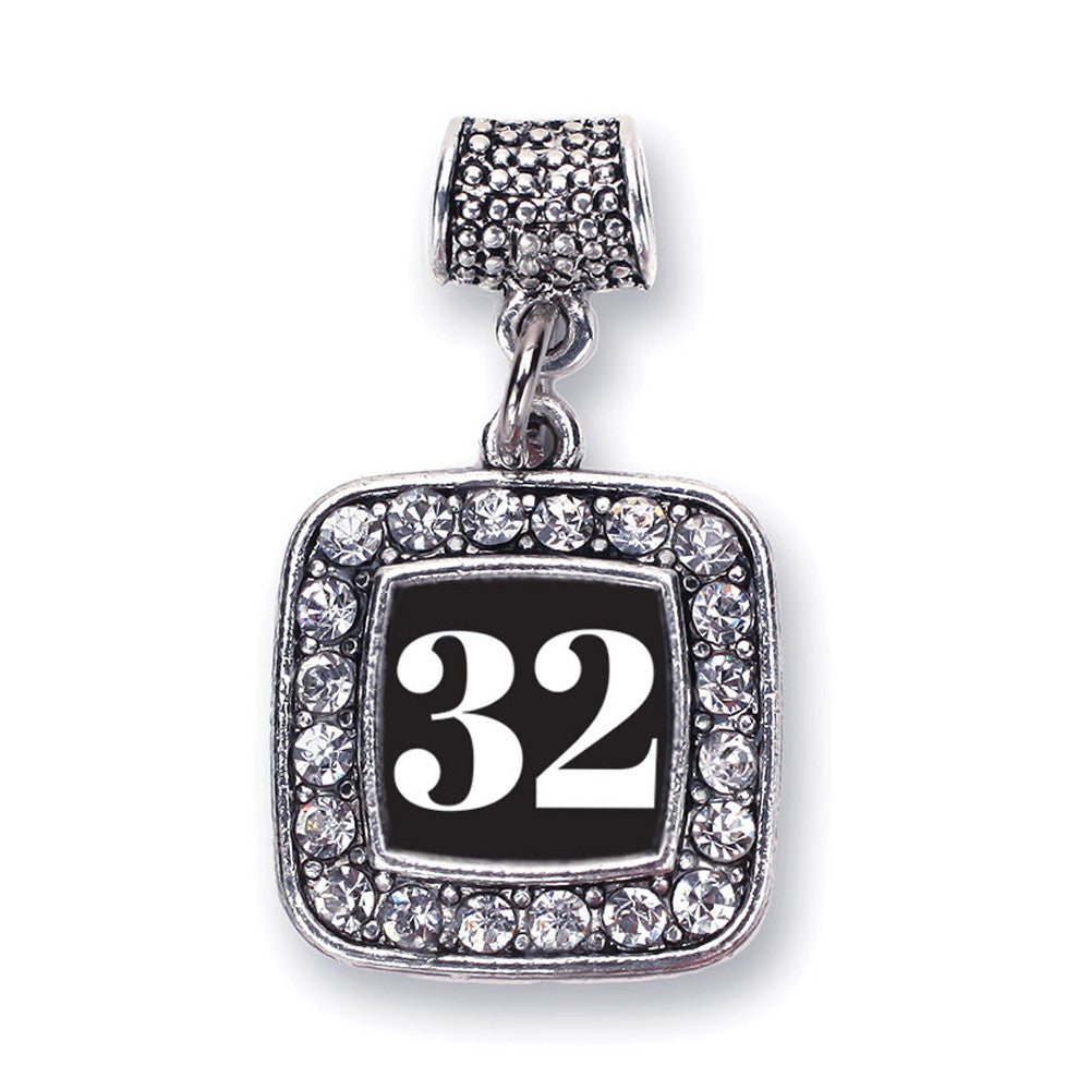 Number 32 Square Charm