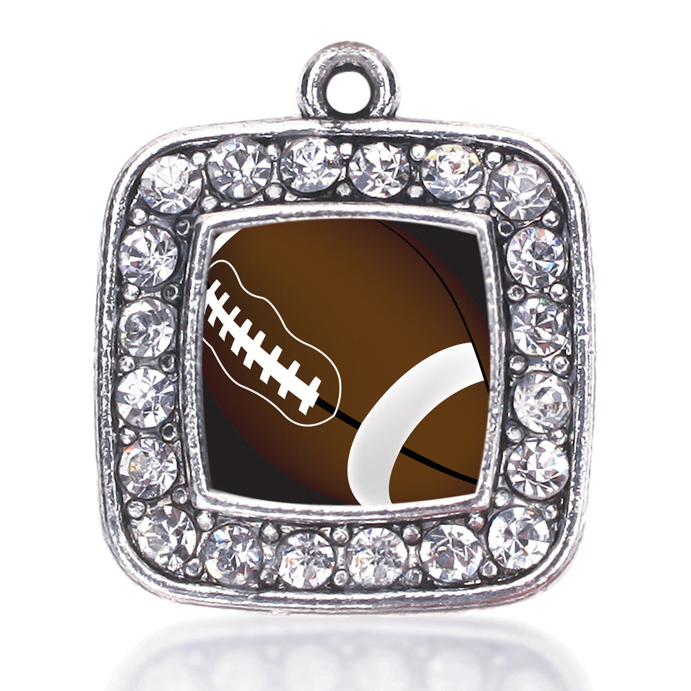 Football Lovers Square Charm