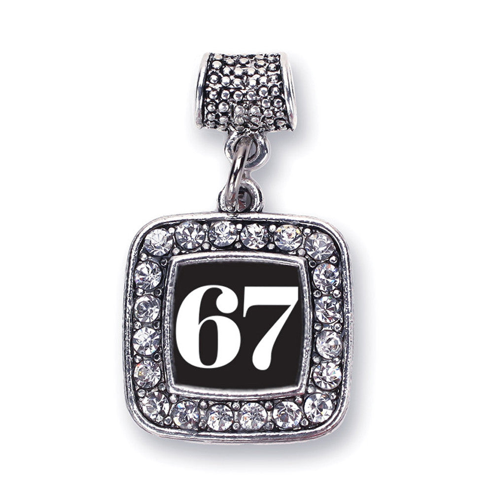 Number 67 Square Charm