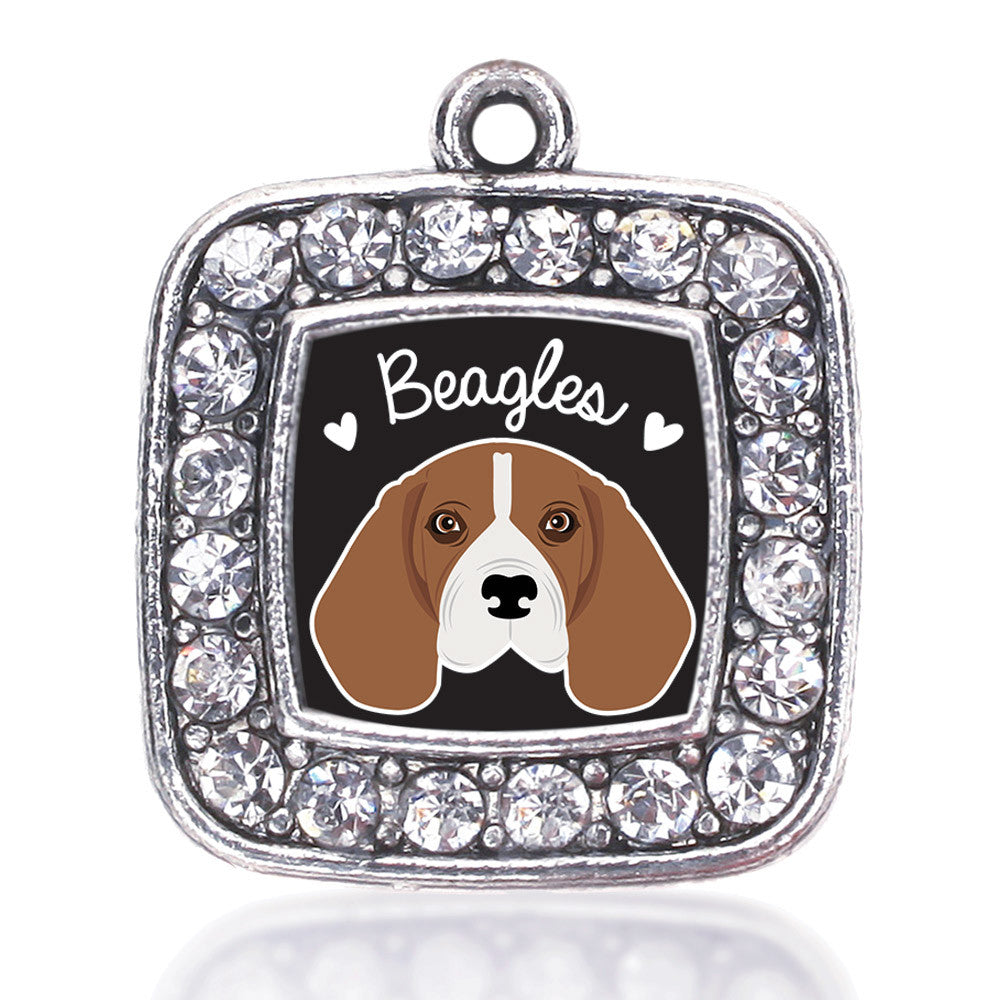 Beagle Lover Square Charm