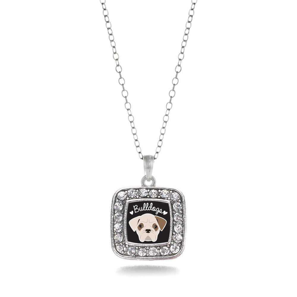Bulldog Lover Square Charm