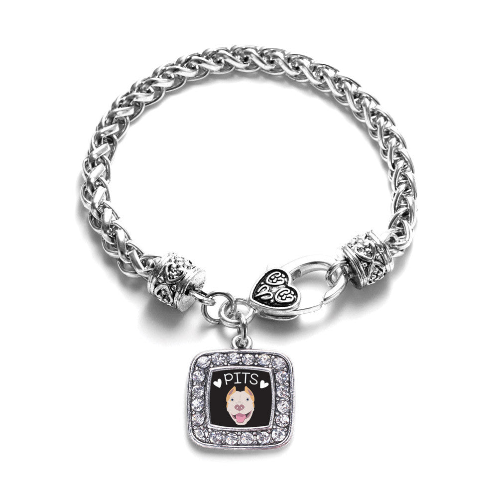 Pit Bull Lover Square Charm