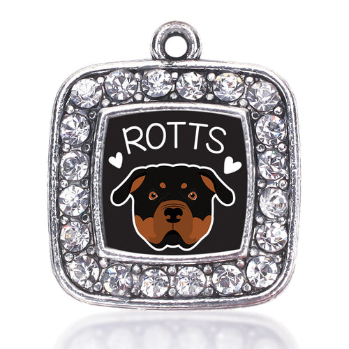 Rottweiler Lover Square Charm