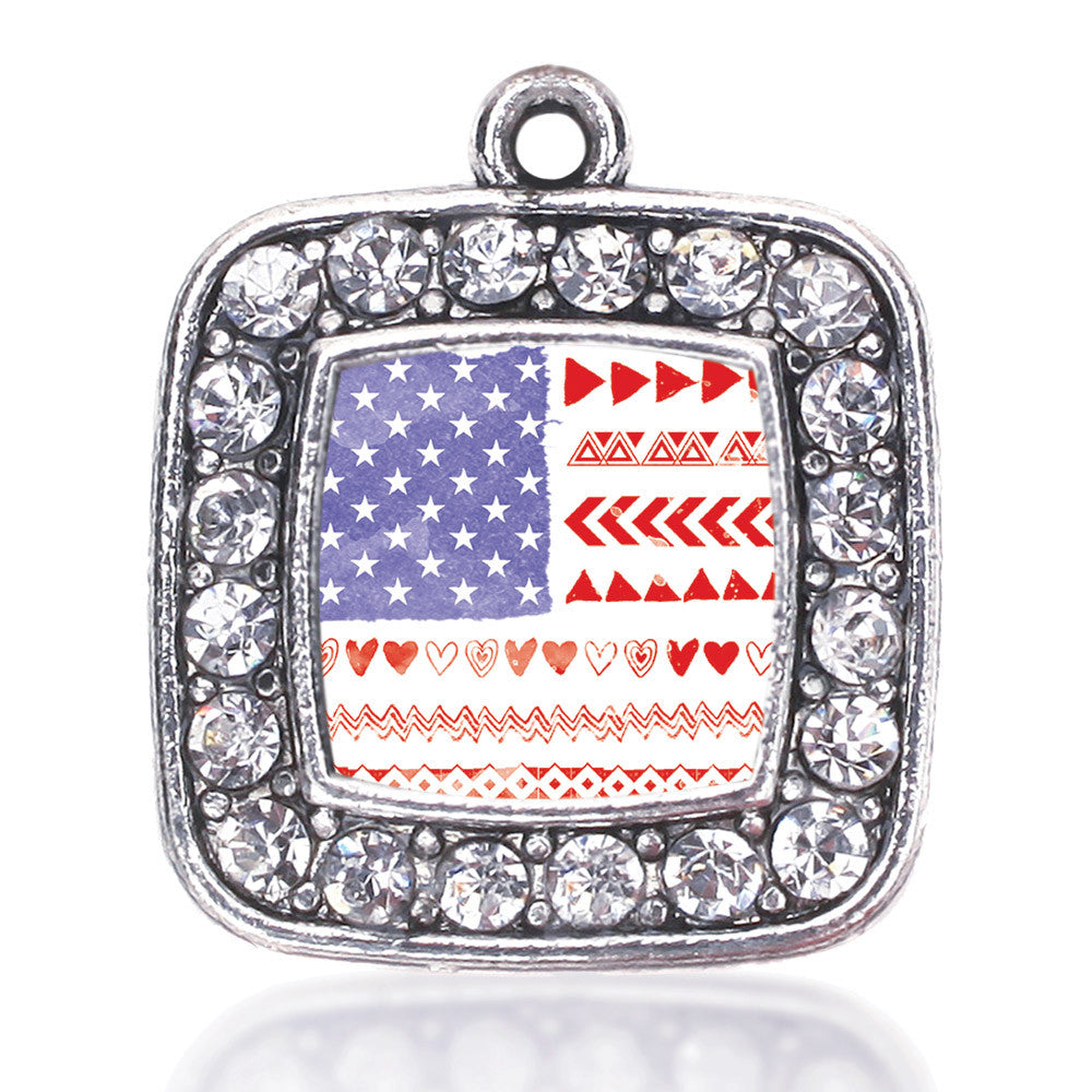American Flag - Cute Square Charm