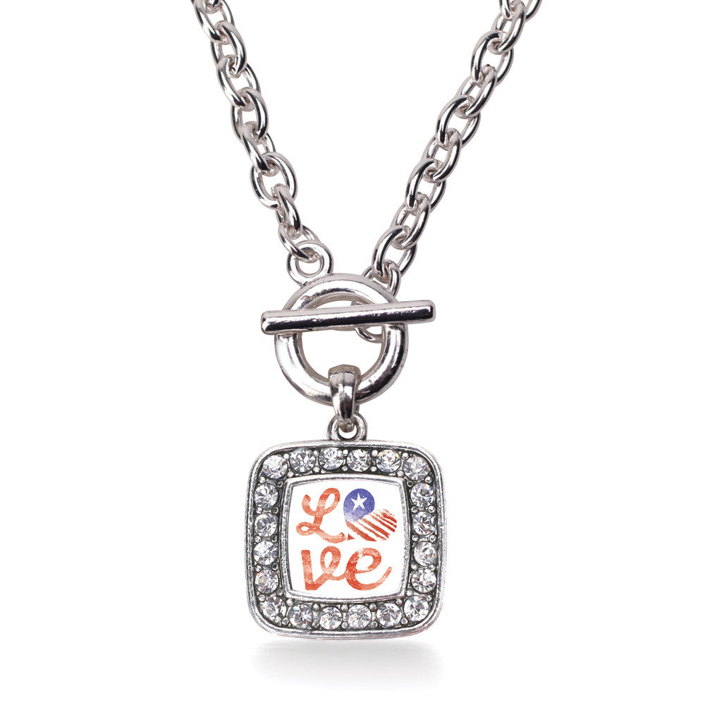 Love USA Square Charm