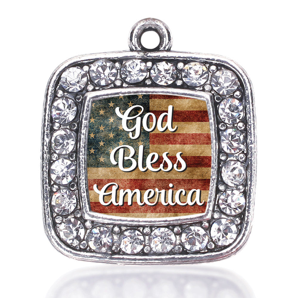 God Bless America Square Charm