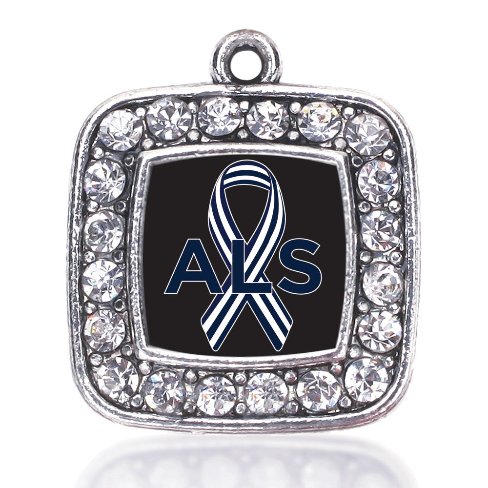 ALS Awareness Square Charm
