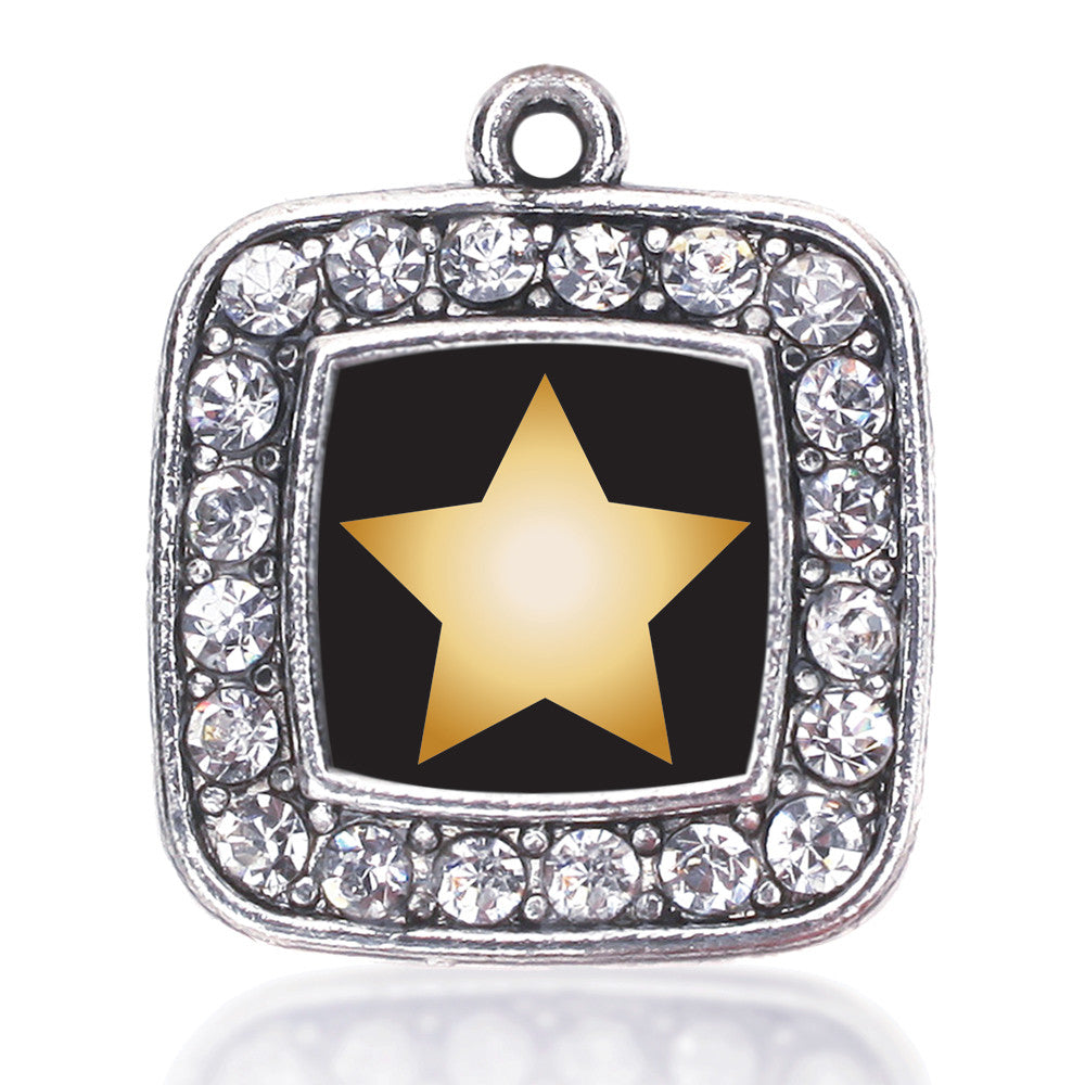 Golden Star Square Charm