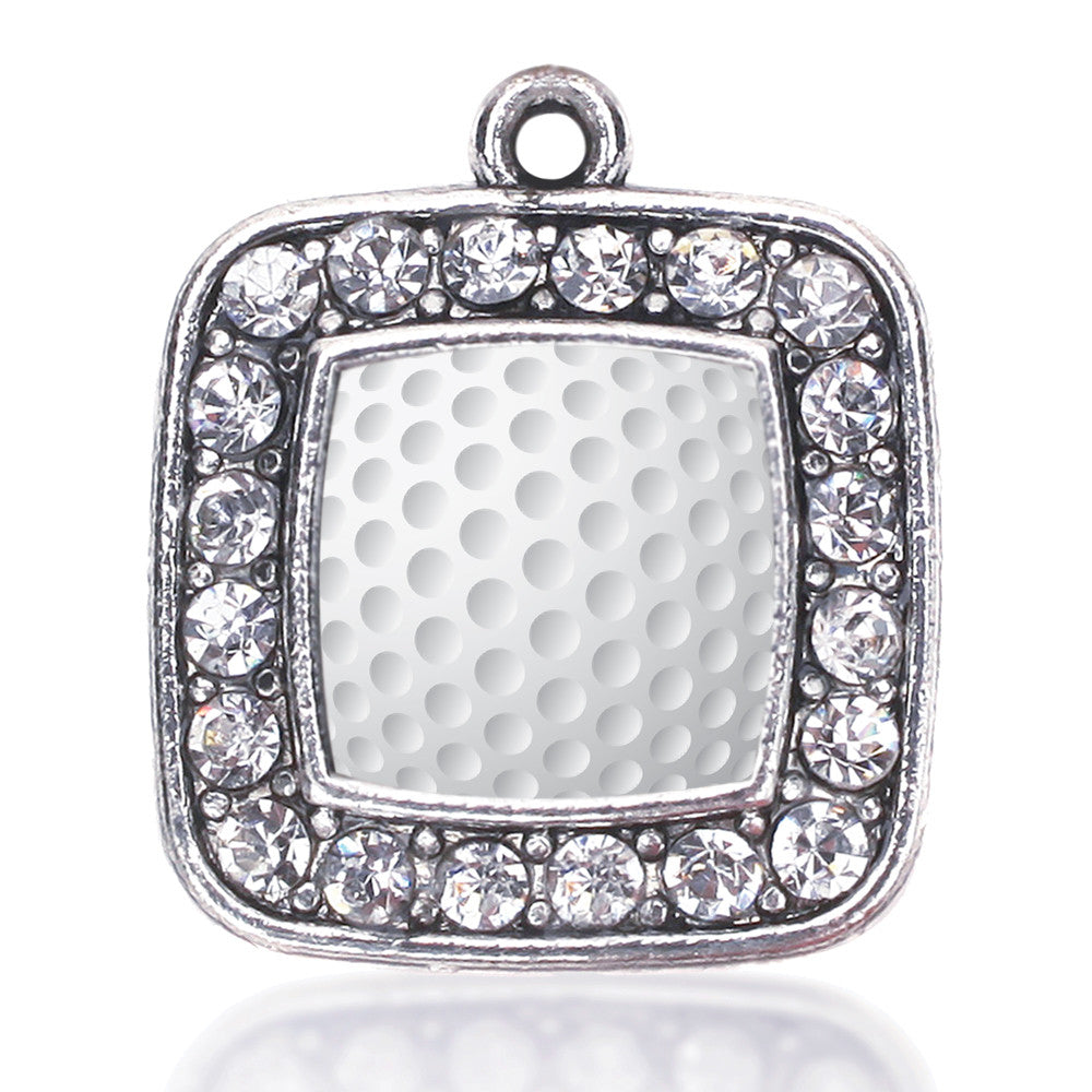 Golf Lovers Square Charm