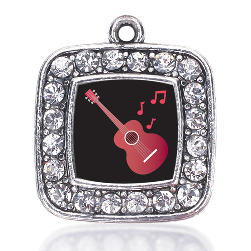 Guitar Lovers Square Charm