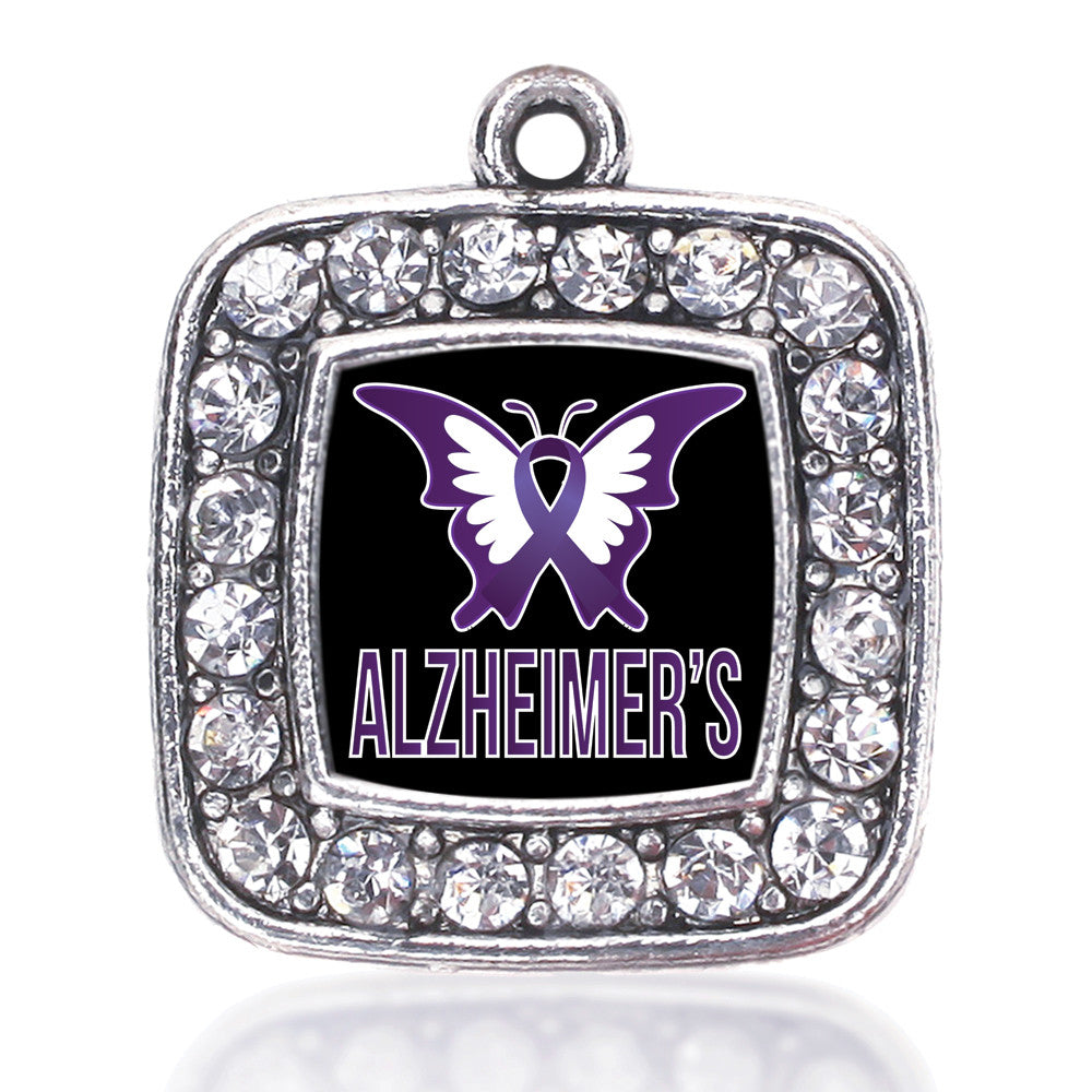 571a9907c90 Alzheimers Awareness Square Charm – InspiredCharms