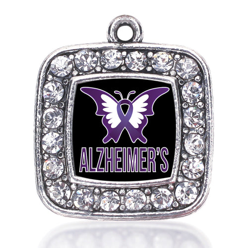 Alzheimers Awareness Square Charm