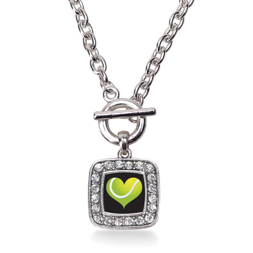 Heart Of A Tennis Player Square Charm