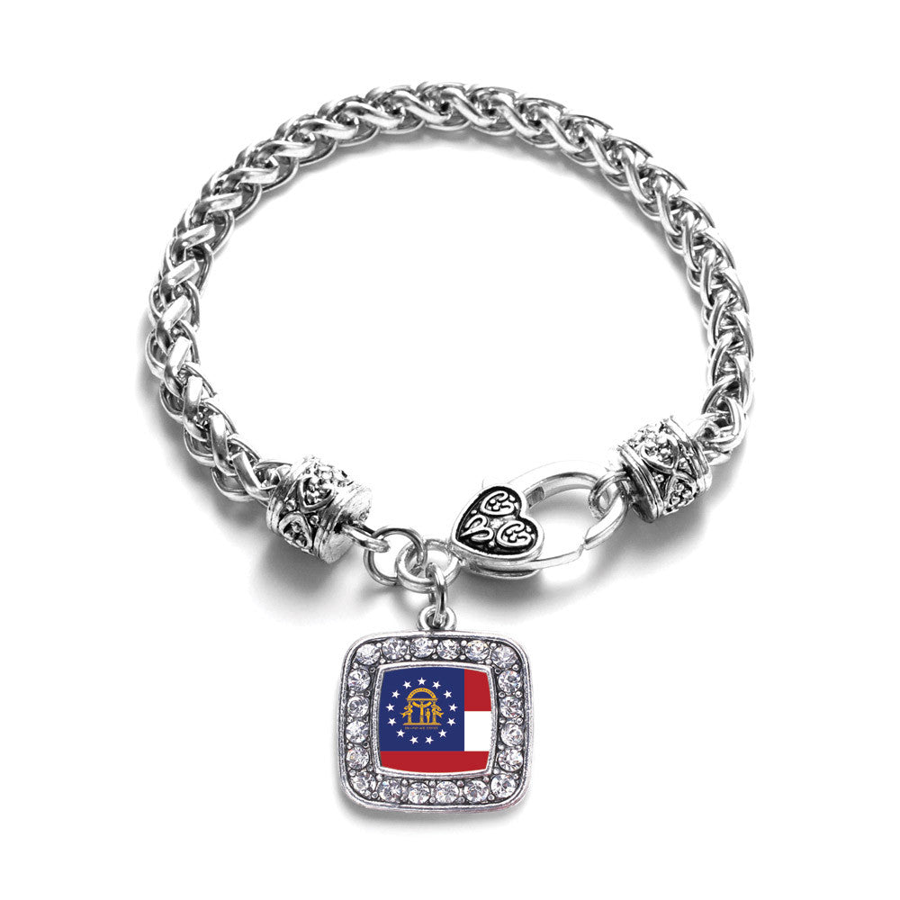 Georgia Flag Square Charm