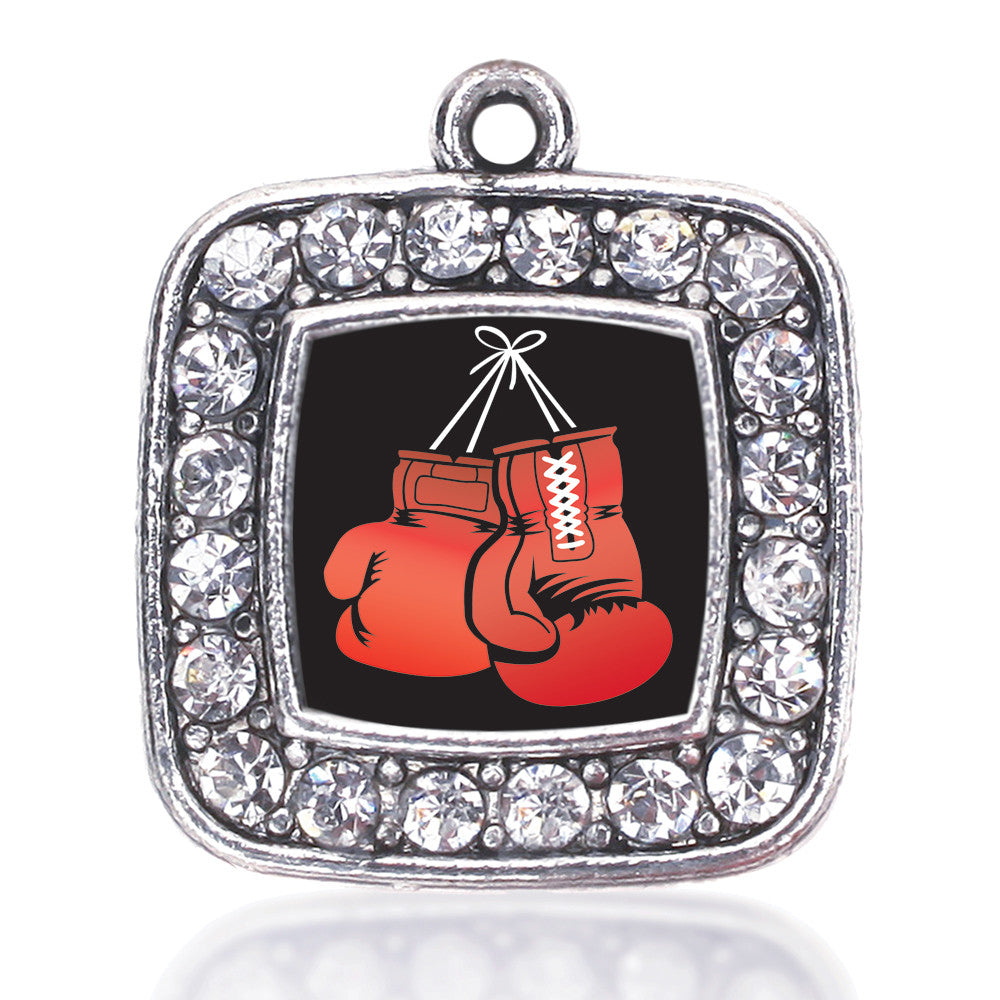 I Love Boxing Square Charm