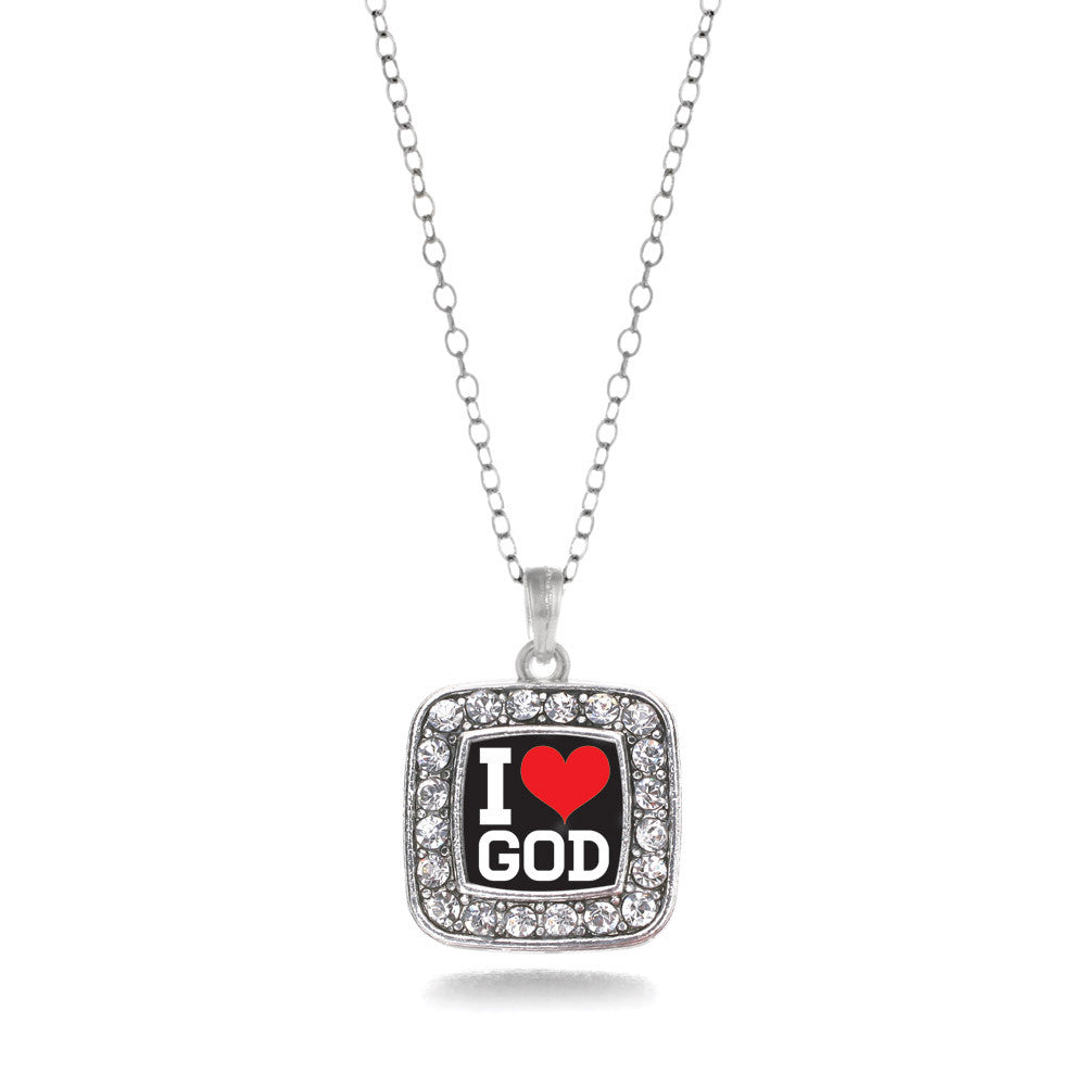 I Love God Square Charm