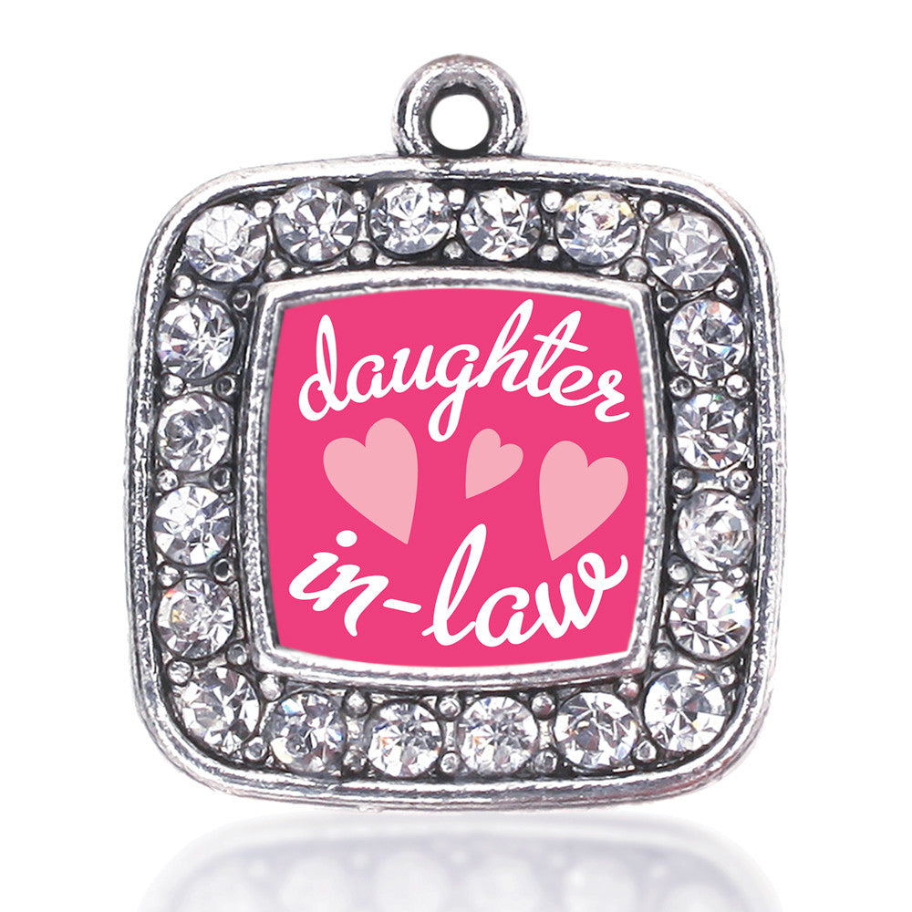 I Love My Daughter In Law Square Charm
