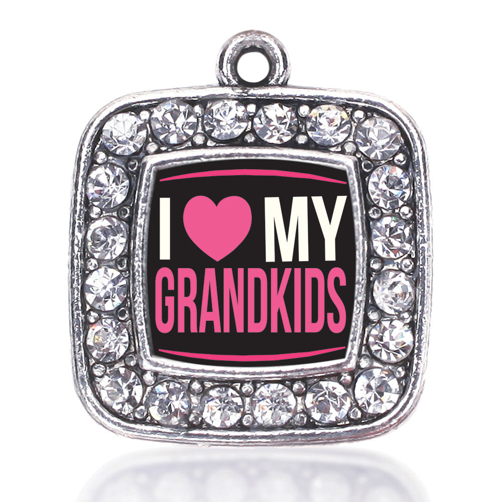 I Love My Grandkids Square Charm
