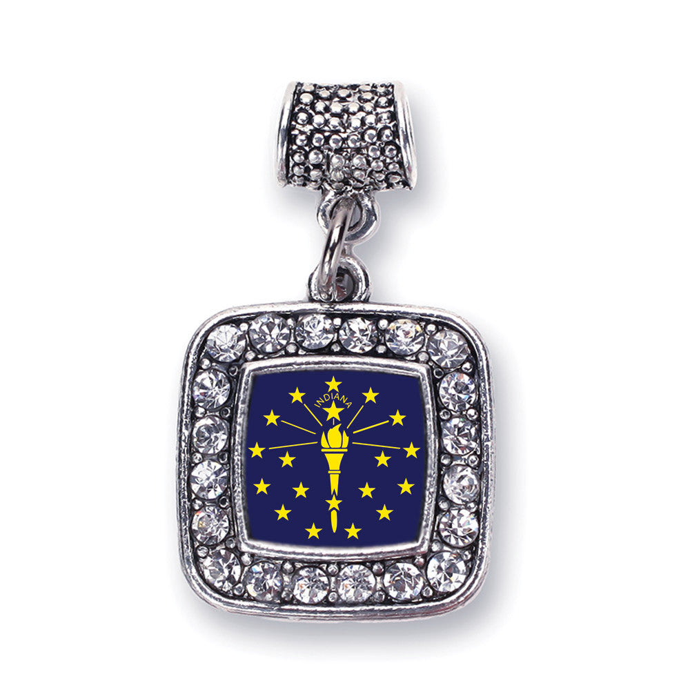 Indiana Flag Square Charm