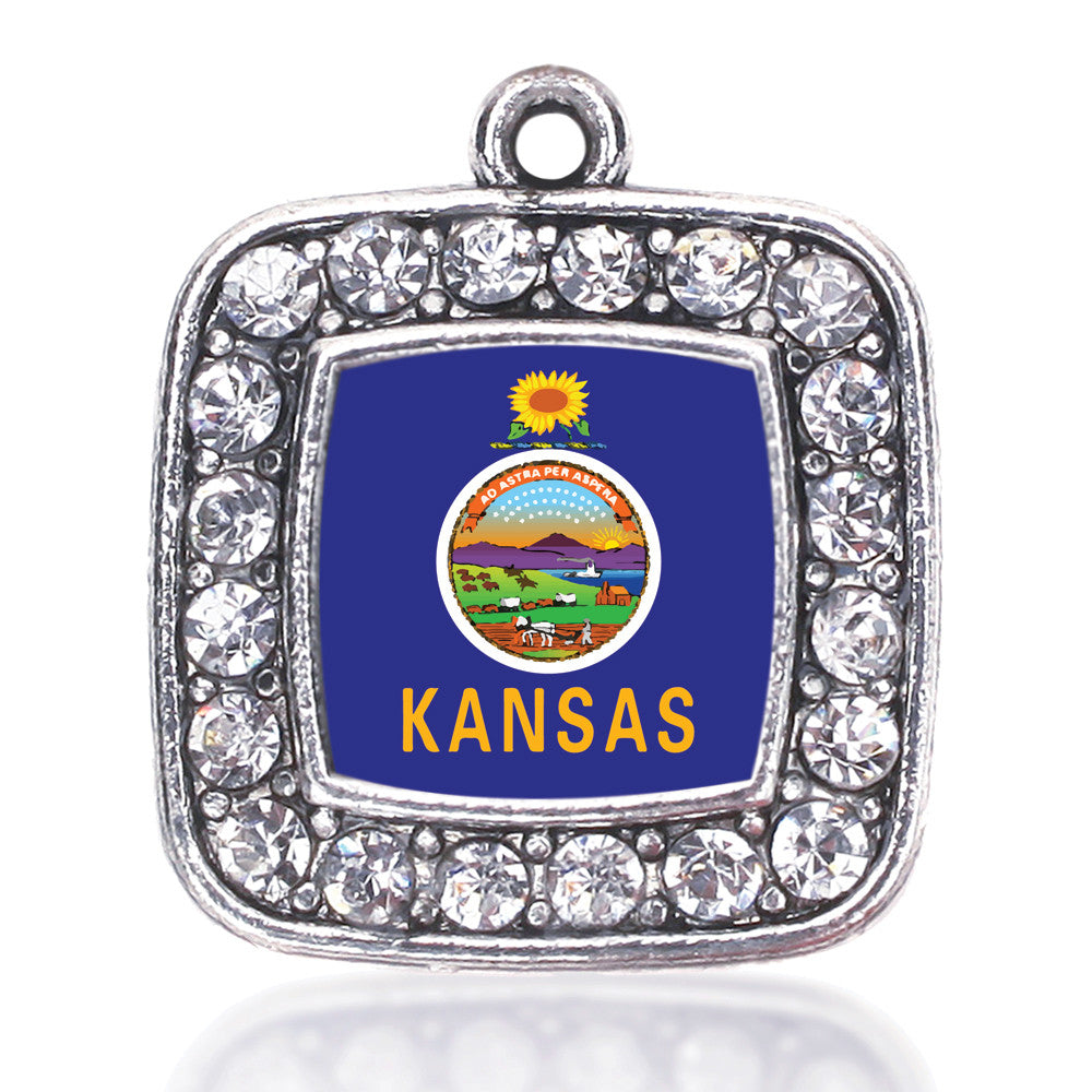 Kansas Flag Square Charm