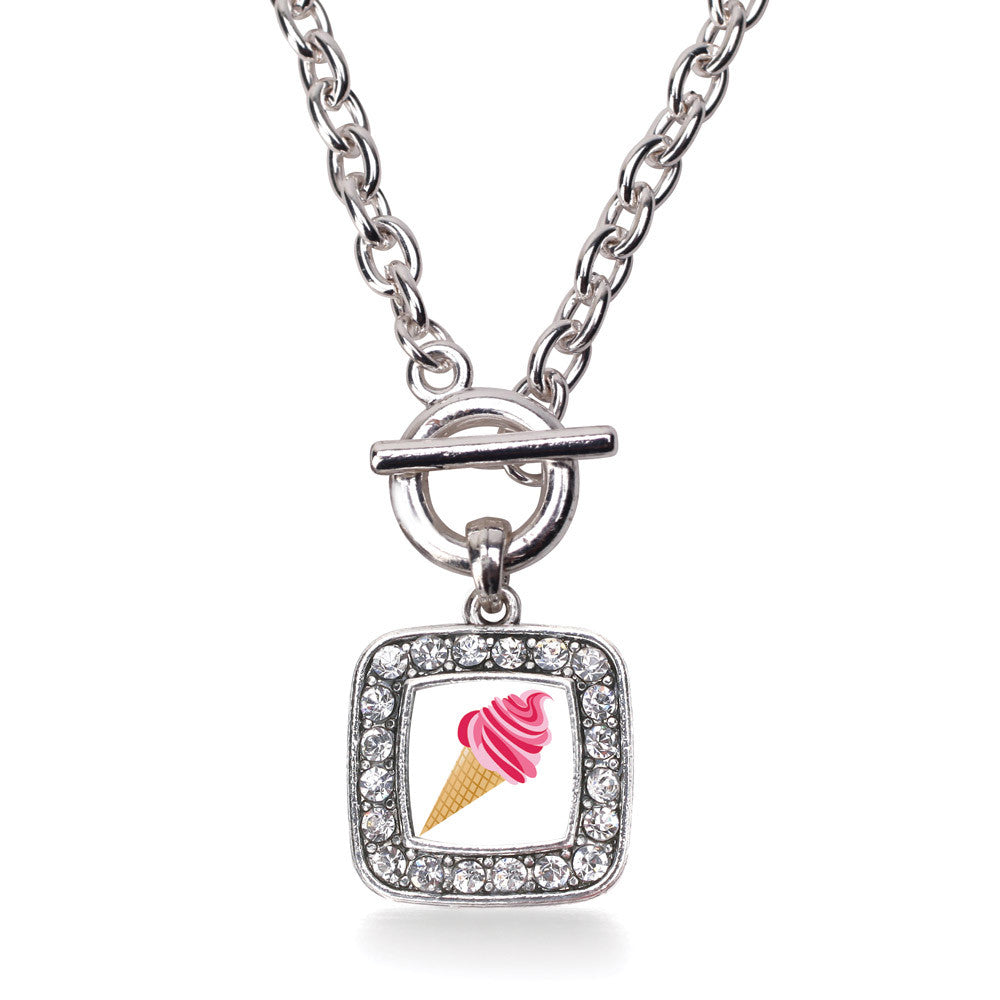 Ice Cream Cone Lovers Square Charm
