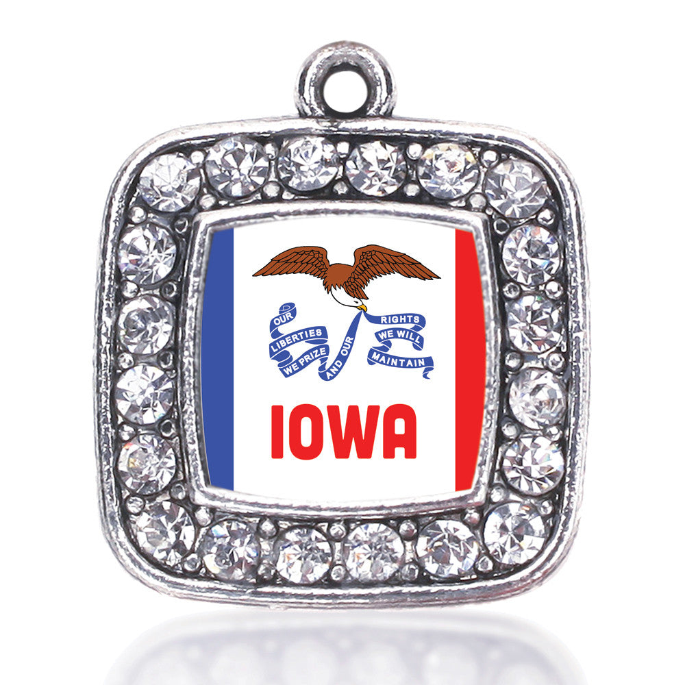 Iowa Flag Square Charm