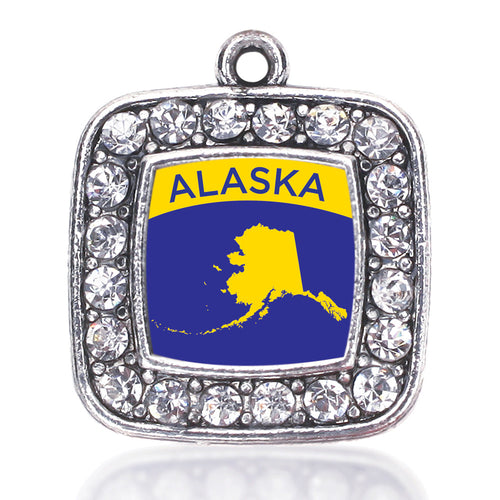 Alaska Outline Square Charm