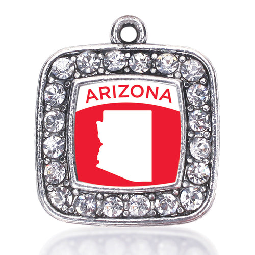 Arizona Outline Square Charm