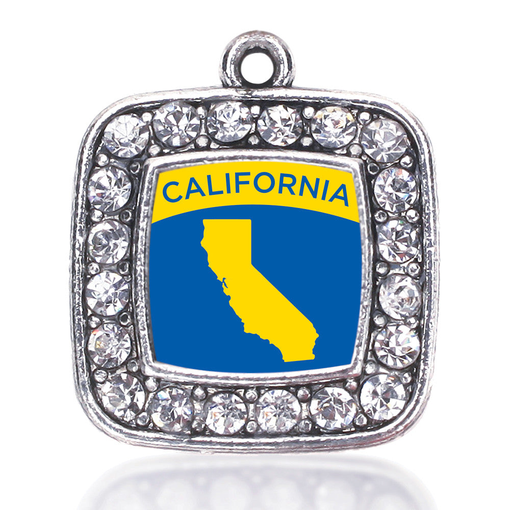 California Outline Square Charm