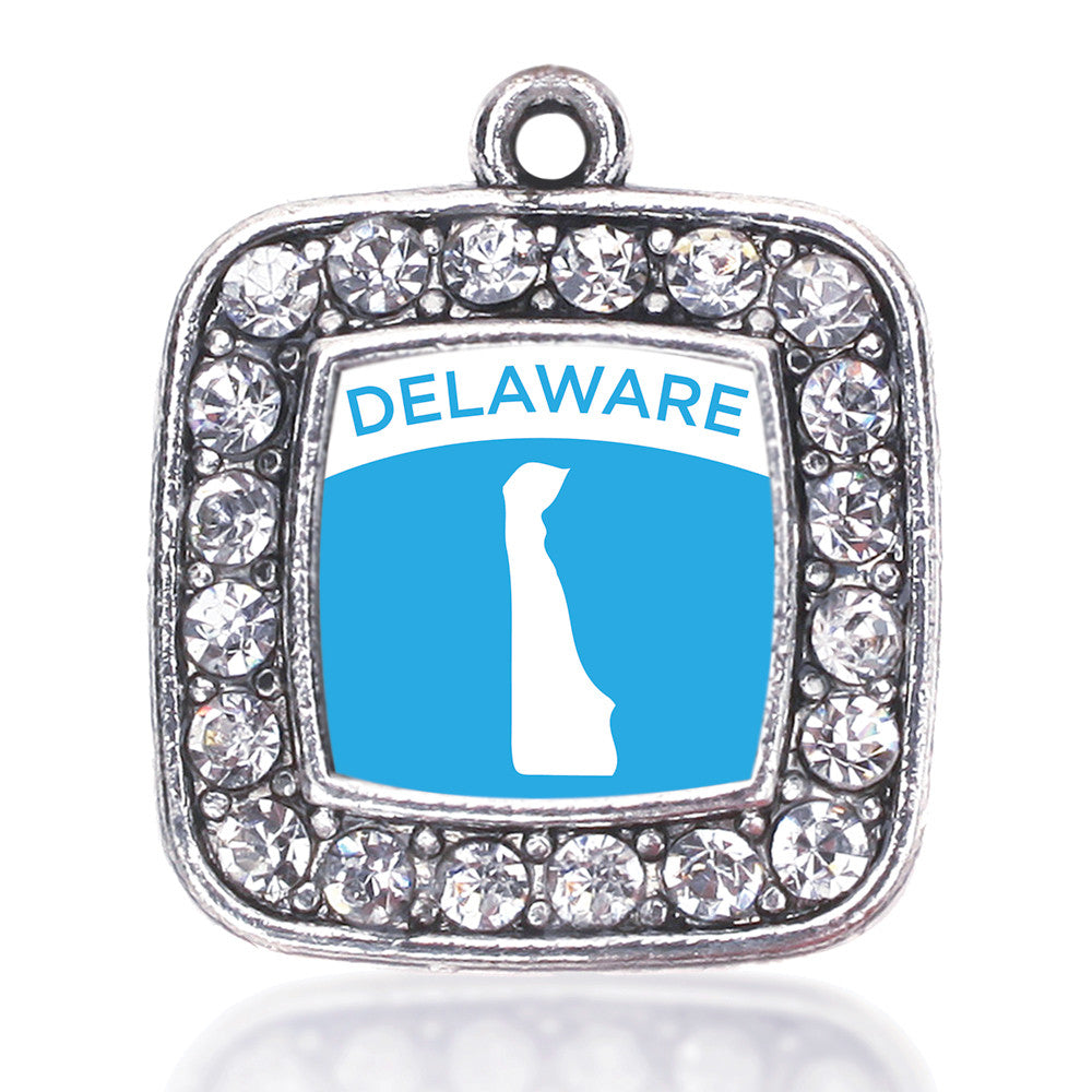 Delaware Outline Square Charm