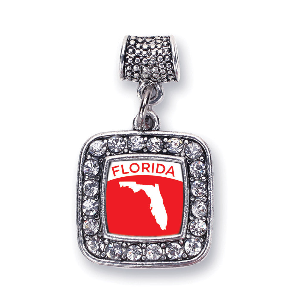 Florida Outline Square Charm